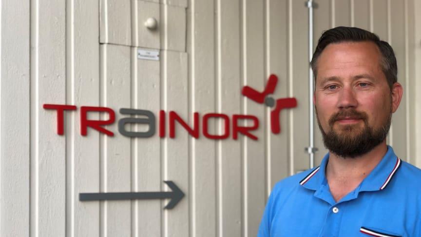 Stian Martinsen i Trainor ser frem til å samarbeide med svenske STF om digital opplæring.  Foto: Trainor