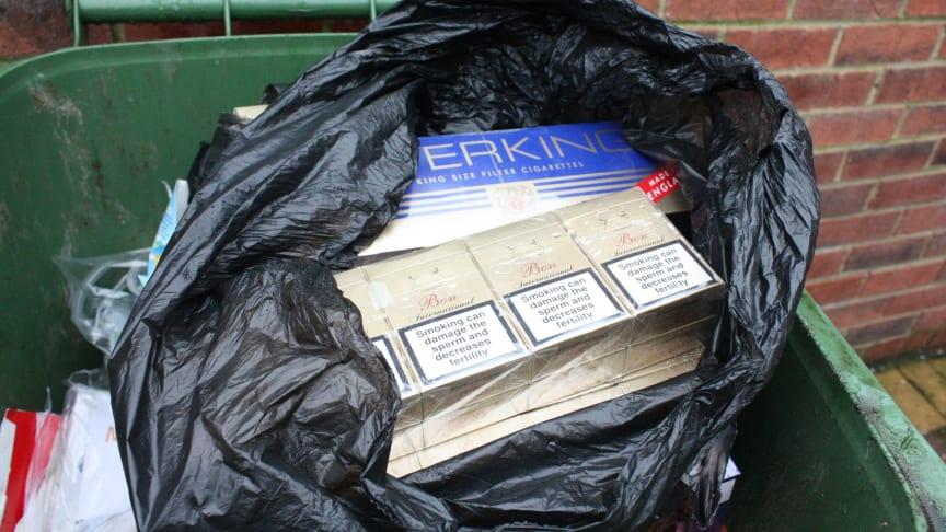 HMRC seized cigarettes from bin