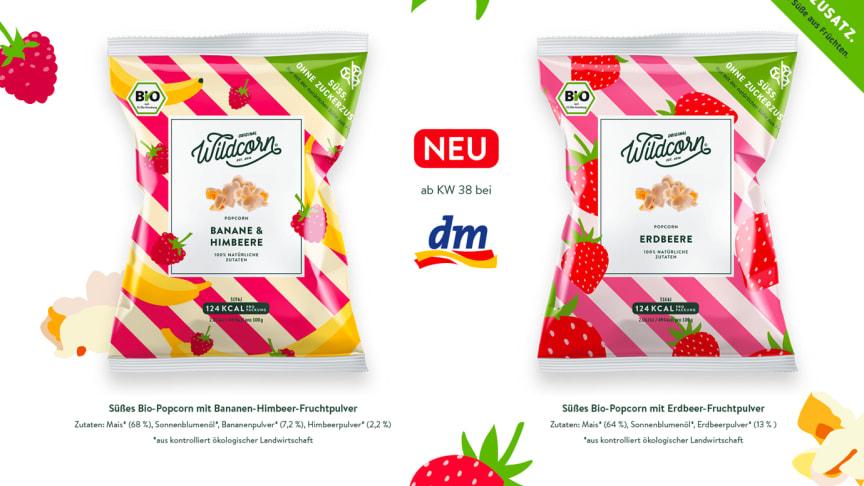 Süßes Bio-Popcorn ohne Zuckerzusatz. Jetzt dauerhaft in allen dm-Filialen.