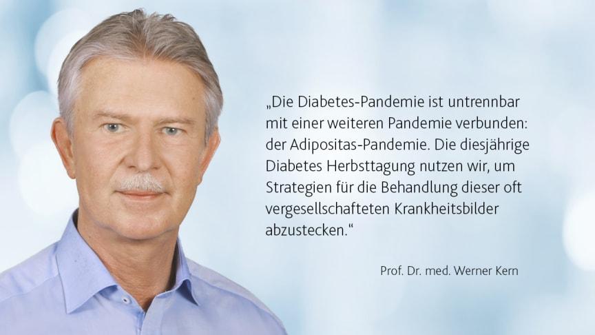 Prof. Werner Kern ist Tagungspräsident der DDG Diabetes Herbsttagung 2021