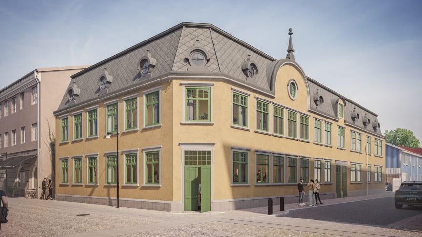 Arkitekt: Albert Svensson. Visonsbild: RÅformat & Inobi