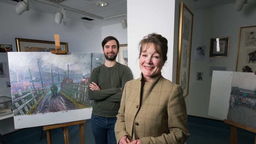 Professor Jean Brown and PhD student Lucas Ferguson-Sharp at Northumbria University's Gallery North - home to the Cornish Revealed exhibition