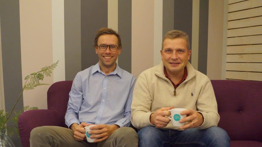 Grundarteamet i PASQ, Martin Granlund och Emil Vinterhav. Foto: Sarah Gotthold