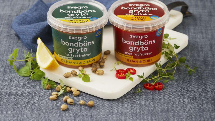 Svegro Bondbönsgryta kommer i två härliga smaker, Oregano&Citron samt Timjan&Chili