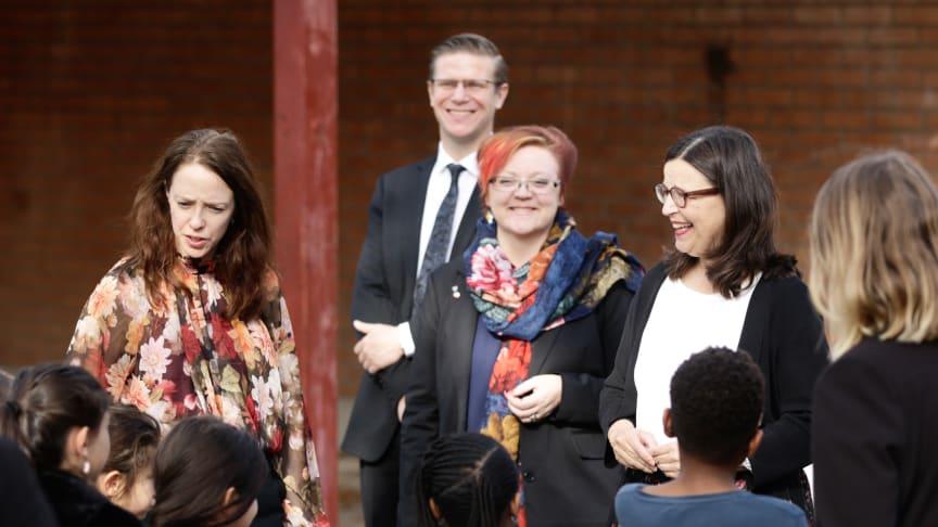 Dialog om likvärdighet och förebyggande arbete i fokus när ministrar besökte Haninge kommun