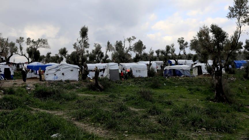 Mória-lägret på Lesbos, Grekland 2018© Giorgos Moutafis/Amnesty International