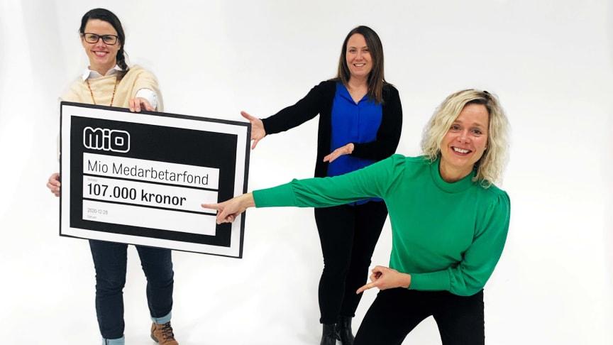 Mio Medarbetarfonds jury: Mari von Sivers Furhoff, Jenny Krayem och Annelie Larsson