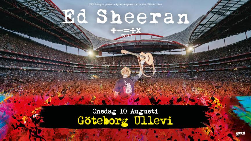 Ed Sheeran kommer till Sverige!