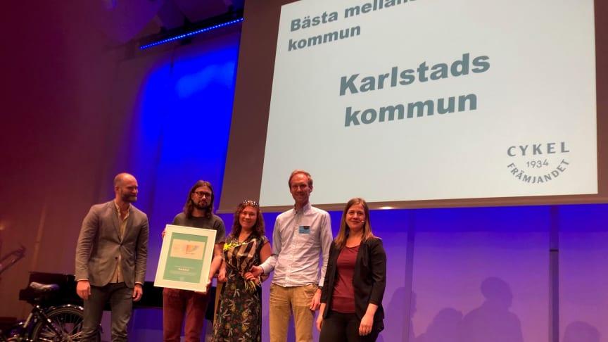 Karlstad är Sveriges bästa mellanstora cykelfrämjarkommun