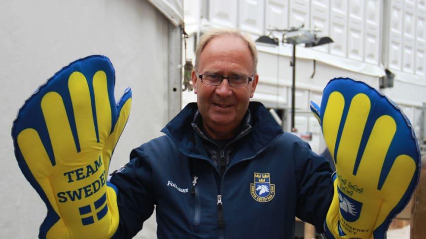 Bo Jenå, förbundskapten dressyr, alltid beredd vara ridsportens supporter. Foto: Svenska Ridsportförbundet