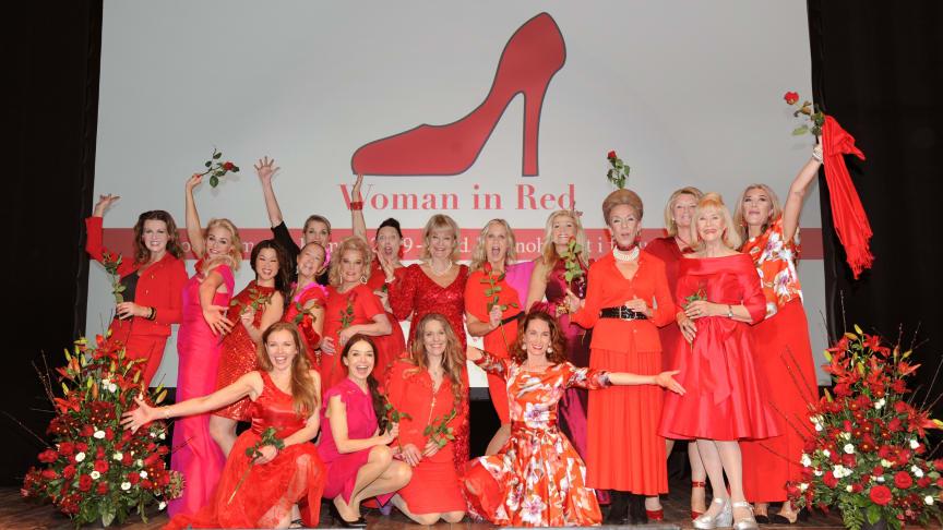 Den 11 mars kommer Woman in Red till Skara för en jämställd hjärtsjukvård