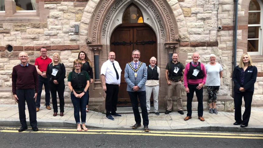 Members of the now nationally known Eco Rangers met for a Mayor's reception in Larne Town Hall recently to receive life buoyancy aids provided by Mid and East Antrim Borough Council