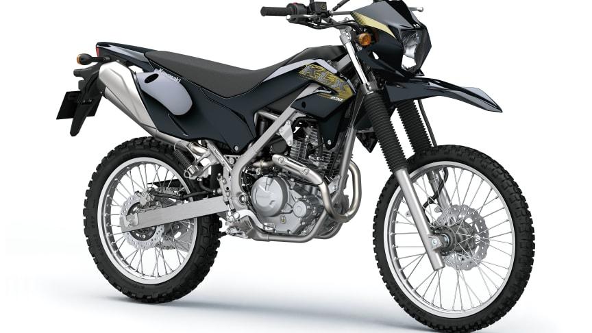 Kawasaki KLX230 kommer till Sverige i svart utförande.