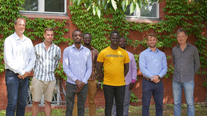 Seit August zu Gast an der TH Wildau, DAAD-Stipendiaten aus dem Togo un dem Benin (Sebastian Stoye/TH Wildau)