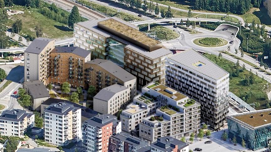 På Östra Station planerar Balticgruppen för ett kvarter som på sikt kommer inrymma en blandning av bostäder, kontor och verksamheter. Skatteverket flyttar in i den planerade kontorsbyggnaden.