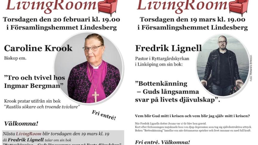 Caroline Krook och Fredrik Lignell gästar LivingRoom i Lindesberg