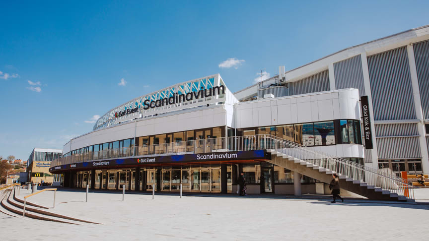 Foajén i Scandinavium är nu klar som lokal för vaccinering av personer över 18 år i fas 4. Vaccineringen har ännu inte startat utan lokalerna iordningsställs just nu. FOTO: Nathalie Greppi
