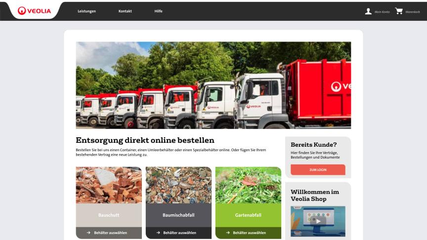 Kommt als Onlineshop daher, war aber ein umfassendes Digitalisierungsprojekt: Der neue Veolia Shop.