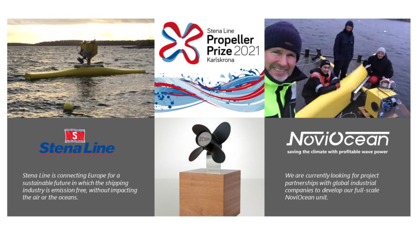 Novige vinnaren av Stena Line Propeller Prize 2021