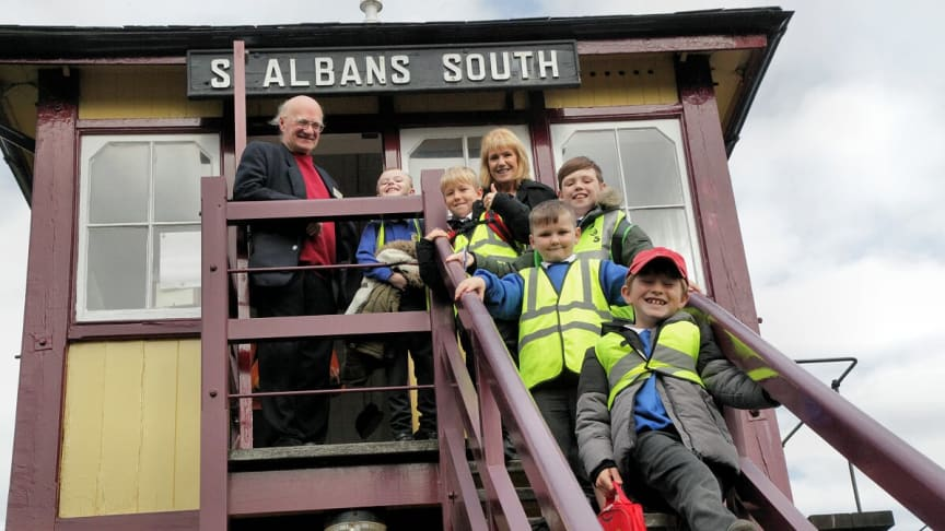 Youngsters enjoyed a Try a Train day, which included a visit to the St Albans South Signal Box and Museum - MORE IMAGES AVAILABLE TO DOWNLOAD BELOW
