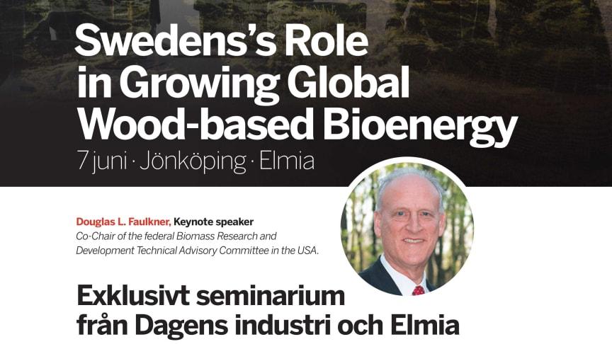 Press invitation: Sweden's Role in Growing Global Wood-based Bioenergy
