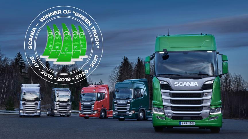 """Scania gewinnt den """"Green Truck Award 2021"""""""
