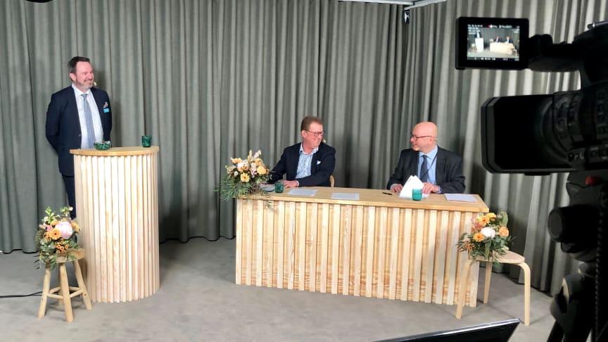 Från Sobonadagen 2021. Per Nordenstam, Mats Rostö och Göran Holm.