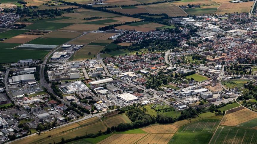 Stadt Butzbach, Gewerbegebiet Ost: Der Ausbau des Glasfasernetzes erfolgt privatwirtschaftlich - ohne Einsatz von Steuergeldern.