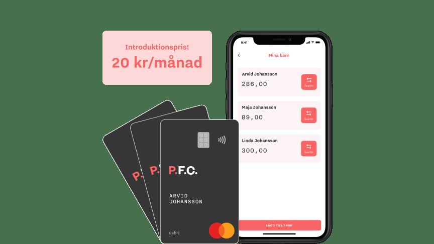 Fintechbolaget P.F.C. lanserar debetkort för barn och unga