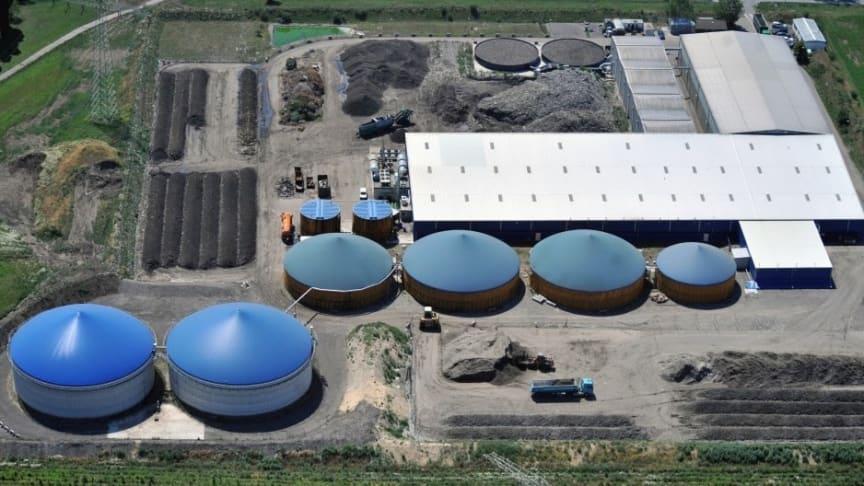Anlagenstandort in Schkopau zur Verarbeitung von Bioabfällen und Speiseresten