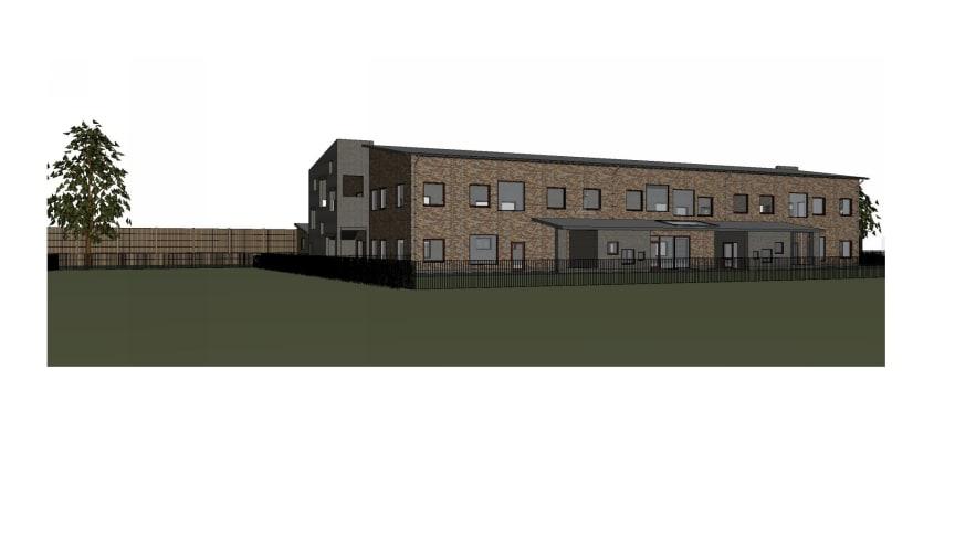 Första spadtaget för Blåsbo nya konceptförskola