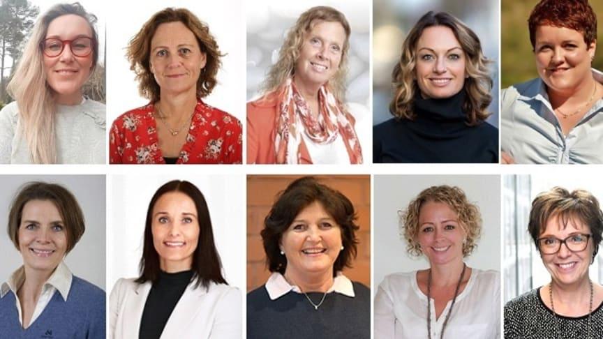 Her er de som skal inspirere til lederskap. Blant dem finner vi både ansatte og tidligere studenter fra Høgskolen i Molde.