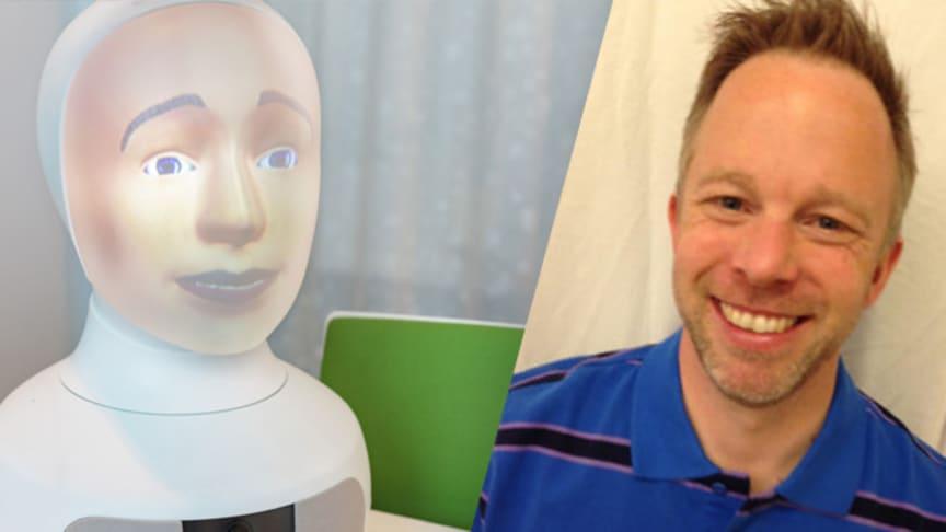 Anders Örnhed först i världen att få jobb med hjälp av en social AI-robot