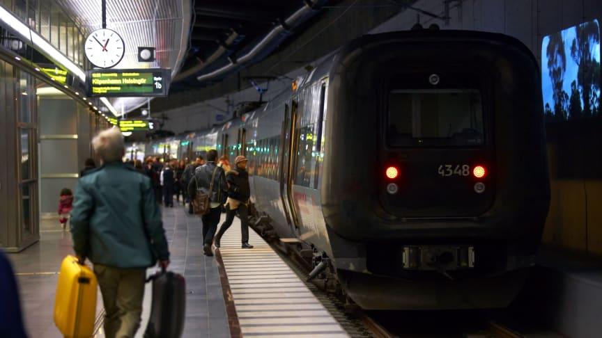 Öresundståg på Malmö centralstation. Fotograf: Lasse Davidsson.