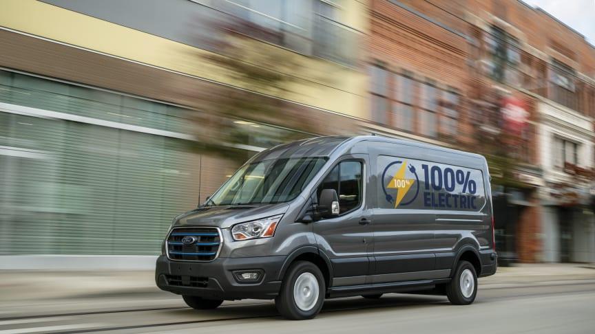Världens största transportbilsmärke, Ford, presenterade i dag sin nya E-Transit, en helelektrisk transportbil.