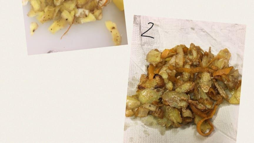 Skalchips - morotsskal blev chips