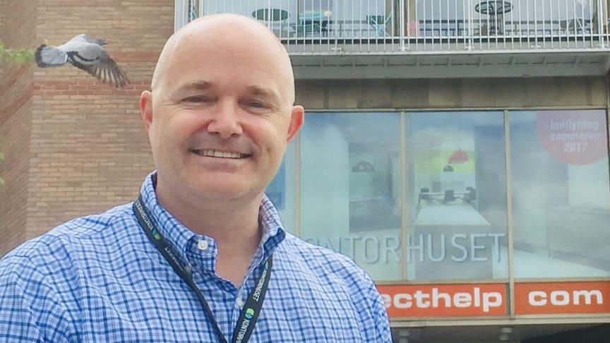Vil du ha kontor i Asker fra januar neste år, er Hakon Lærum i Kontorhuset mannen å snakke med.