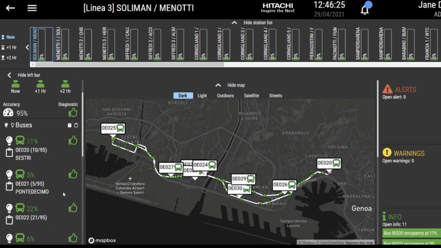 Genoa starts trial of Hitachi Rail congestion monitoring system on AMT buses