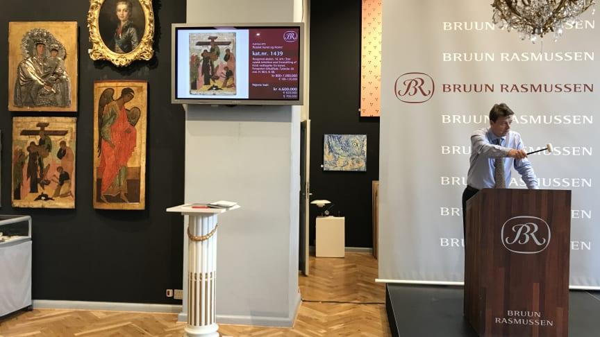 Frederik Bruun Rasmussen sets the World auction record on Russian icons with a hammer price of DKK 4.6 million (€ 620,000 / € 806,000 including buyer's premium).