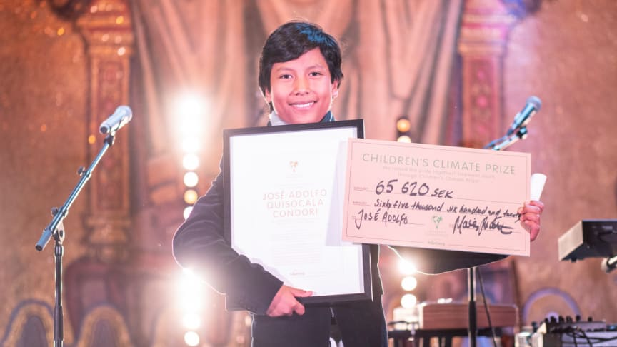Eco-bank initiative wins the Children's Climate Prize 2018
