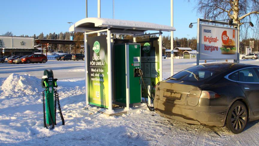 Umeå får ytterligare en snabbladdare för elfordon