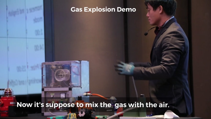 Gas and Dust Explosion demo by Thaison Vu, Trainor Vietnam