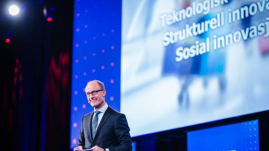 Enova-direktør Nils Kristian Nakstad på Enovakonferansen 2018.