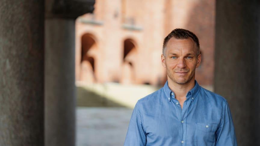 Stockholms stads trygghetsborgarråd Erik Slottner (KD). Foto: William Persson