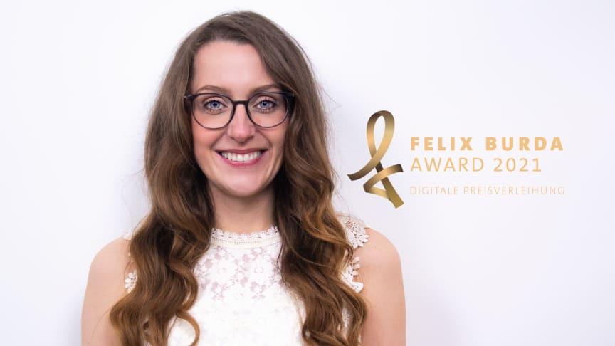 "Felix Burda Award: Wayne Carpendale kürt ""Krebskriegerin"" Susanna Zsoter zum Ehrenfelix 2021."