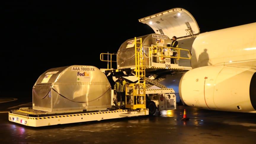 Lastning av fraktflyg. Foto: Jönköping Airport