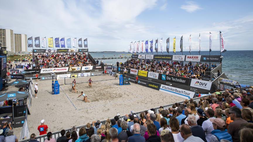 German Beach Tour des Deutschen Volleyball-Verbandes (DVV) auf Fehmarn ©HochZwei