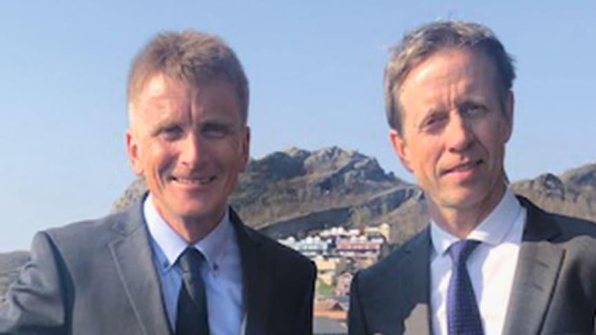 Arild Hegreberg (Statens vegvesen) og Stig André Knudsen (Norconsult). Foto: Norconsult