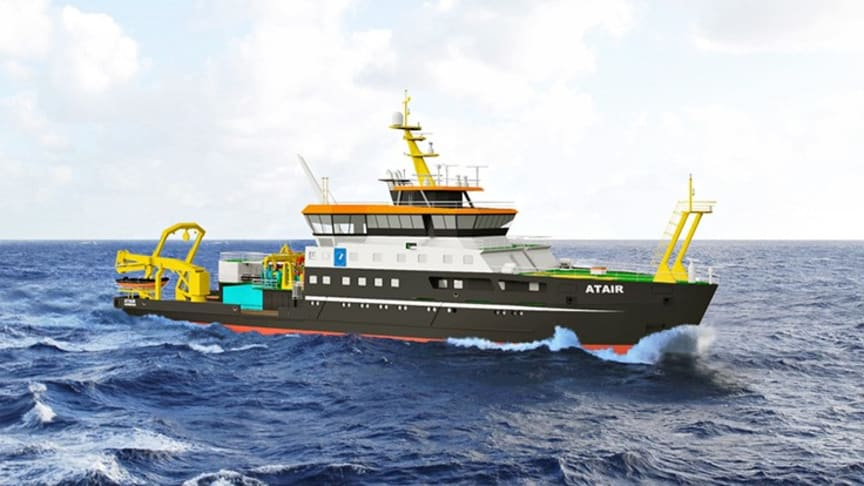 KONGSBERG chosen to deliver unique technical solution for new research vessel, Atair II