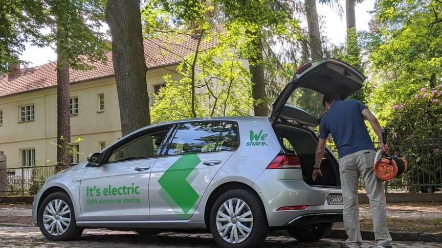Elektrisch unterwegs in Brandenburg mit WeShare. Foto: TMB.